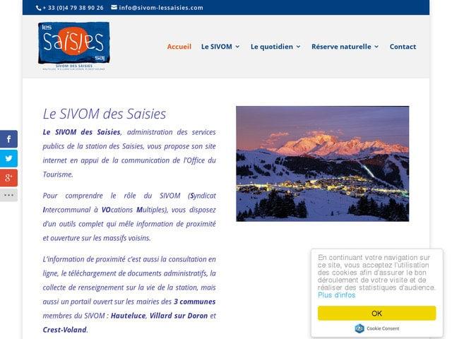 Réalisation site web adaptatif responsive design pour le SIVOM