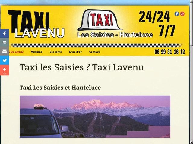 Réalisation site web responsive design pour un artisan taxi