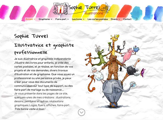 Création du site internet de Sophie Turrel