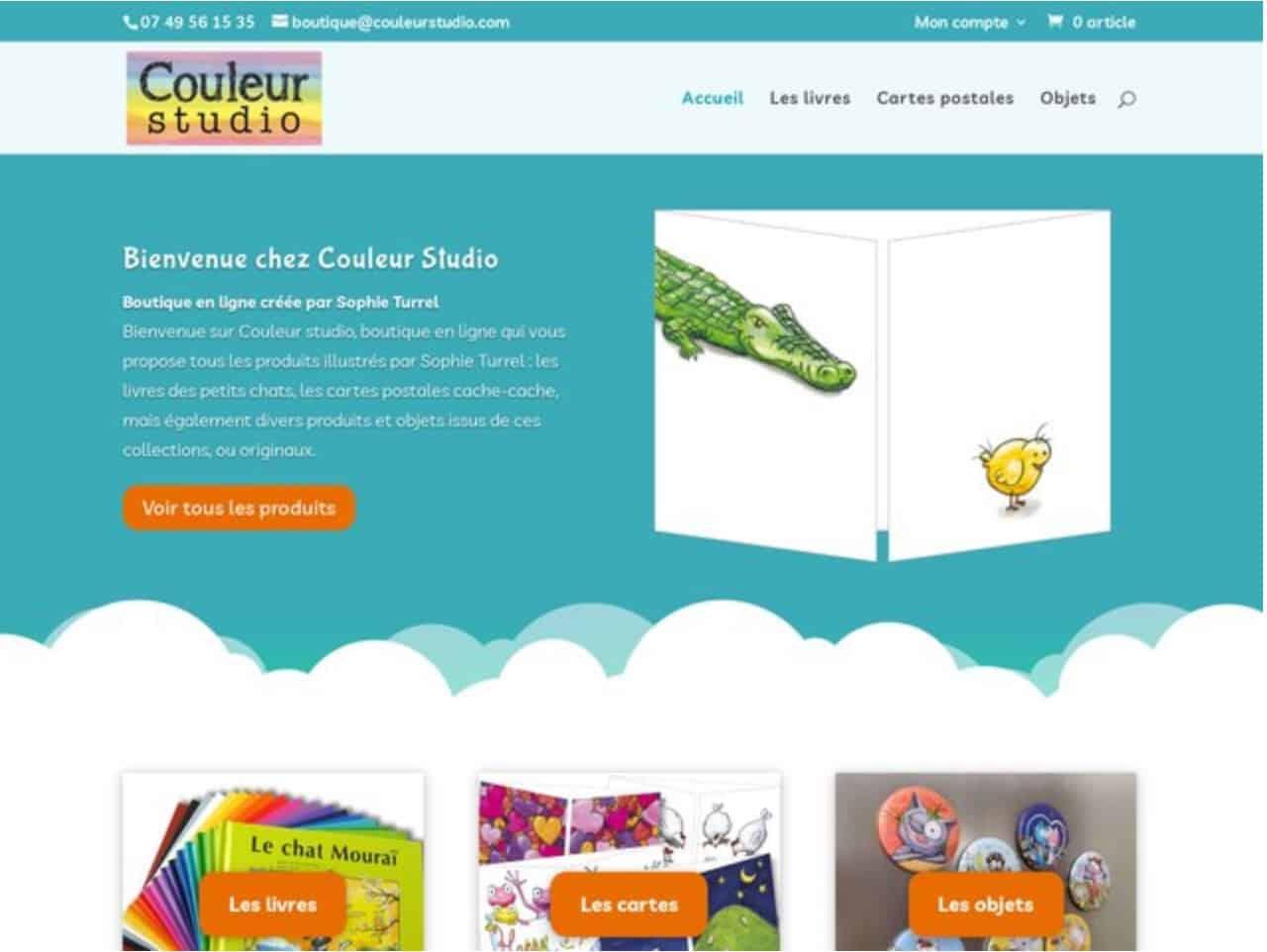 Boutique en ligne Couleur Studio